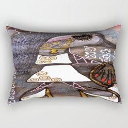 Dolphin Fashion Star tetkaART Rectangular Pillow