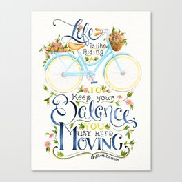 Like A Bicycle Canvas Print