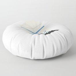 Cute kawaii milk carton Floor Pillow