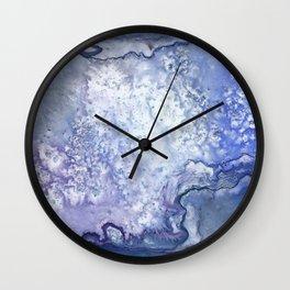 Mancha azul Wall Clock