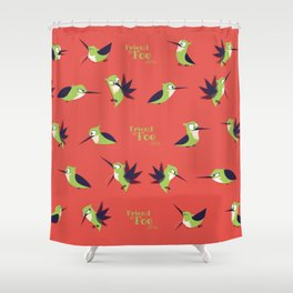 Friend Or Foe - Chad Pattern (RED) Shower Curtain