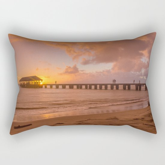 Hanalei Bay, Hawaii Rectangular Pillow