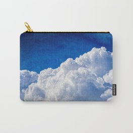 White Cumulus Clouds In The Blue Sky Carry-All Pouch