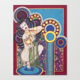 African Klimt Canvas Print