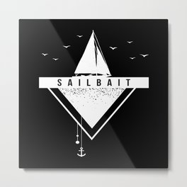Sailbait Boat Ship Sailing Metal Print