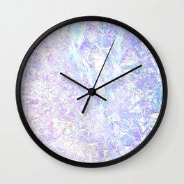 Iridiscent Pastel Crystal Wall Clock