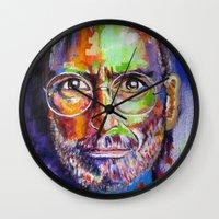steve jobs Wall Clocks featuring steve jobs by yossikotler