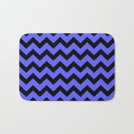 Chevron (Black & Blue Pattern) Bath Mat