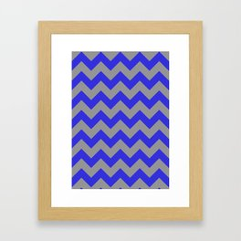 Chevron Navy Framed Art Print