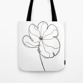 line drawn flower Tote Bag