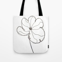 line drawn flower Tote Bag