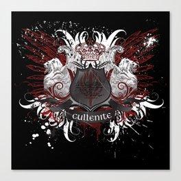 Cullenite Crest (on dark background) Canvas Print