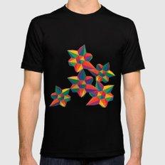 Hexagon Explosion Mens Fitted Tee MEDIUM Black