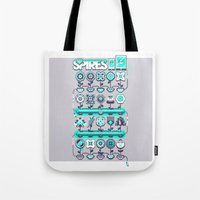 spires Tote Bags featuring SPIRES IRRIGATION 2015 by Spires
