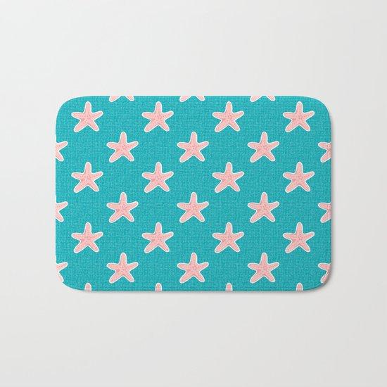 Starfish_Pattern Bath Mat