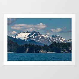 Kachemak_Bay Mountains - Alaska Art Print