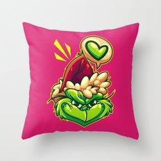 Green Humbug Throw Pillow