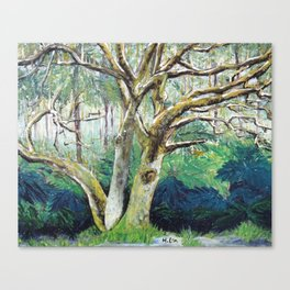 BY NATURE - Original Fine Art painting by HSIN LIN / HSIN LIN ART Canvas Print
