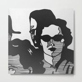 Shaded Metal Print