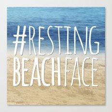 #RestingBeachFace Canvas Print