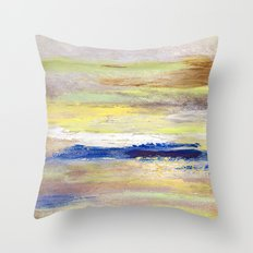 Rock Study in Yellows Throw Pillow