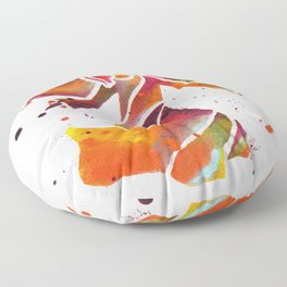 Colorful Angel Acrylic Abstract Painting by Saribelle Rodriguez Floor Pillow