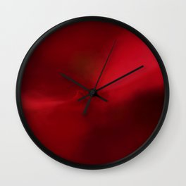Christmas Red Wall Clock