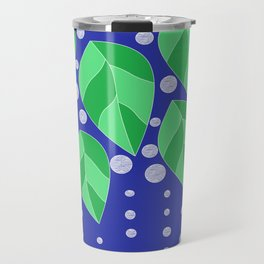 dots leaves Travel Mug