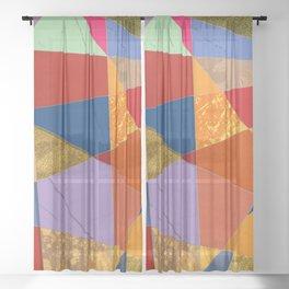Abstract #337 Sheer Curtain