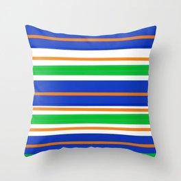Collegiate Gator Stripes Throw Pillow