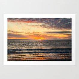 South Ponto Sunset Art Print