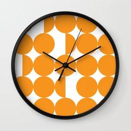 Orange dots Wall Clock