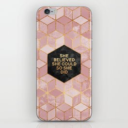 She believed she could so she did iPhone Skin