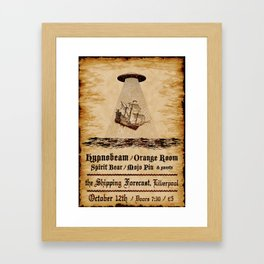 Gig poster for the shipping forecast, Liverpool Framed Art Print