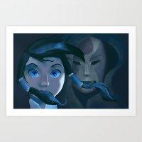 korra Art Prints featuring Korra by NokkiDoki