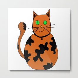 toby the cat Metal Print