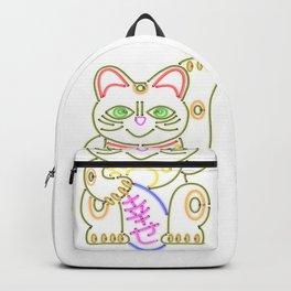Maneki-Neko Neon – Good Luck Backpack