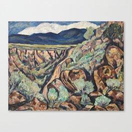 New Mexico Landscape by Marsden Hartley Canvas Print