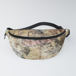 Vintage Guitar Watercolor Collage Fanny Pack