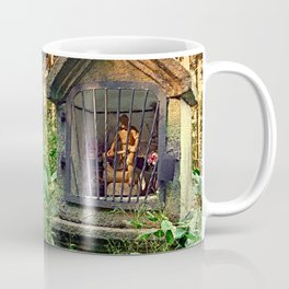 Ancient forest worker monument | architectural photography Coffee Mug