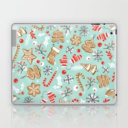 Gingerbread Dreams - Aqua Laptop & iPad Skin