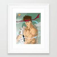 street fighter Framed Art Prints featuring Fighter by Neokoi