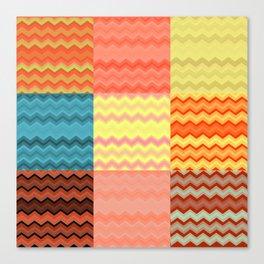 chevron grid Canvas Print