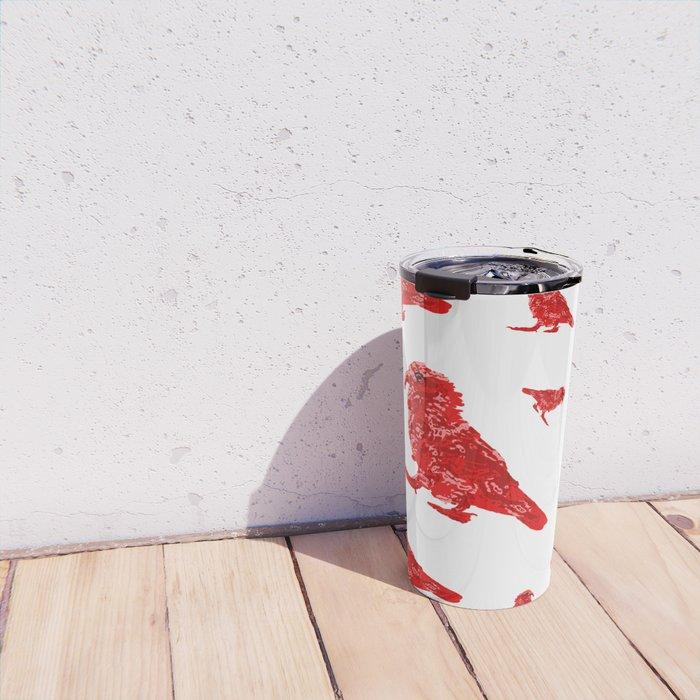 Kea Red Multiple - white background Travel Mug