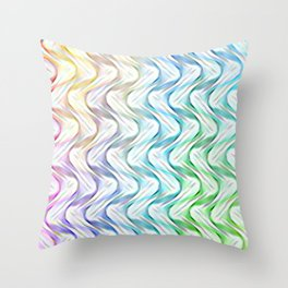Upside Down Psychedelic Waves Throw Pillow