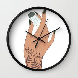 Salty AF Wall Clock