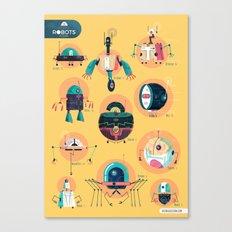 :::Mini Robots::: Canvas Print