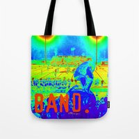 band Tote Bags featuring BAND. by TMCdesigns