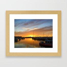 Sunset over Crosby's Framed Art Print