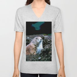 Watching for Incoming Unisex V-Neck